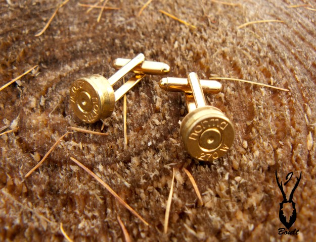 gold plated bullet cufflinks