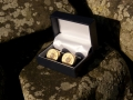 Silver plated shotgun cartridge cufflinks