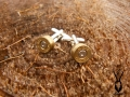 bullet cufflinks silver plated loose