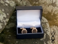 gold plated antler cufflinks